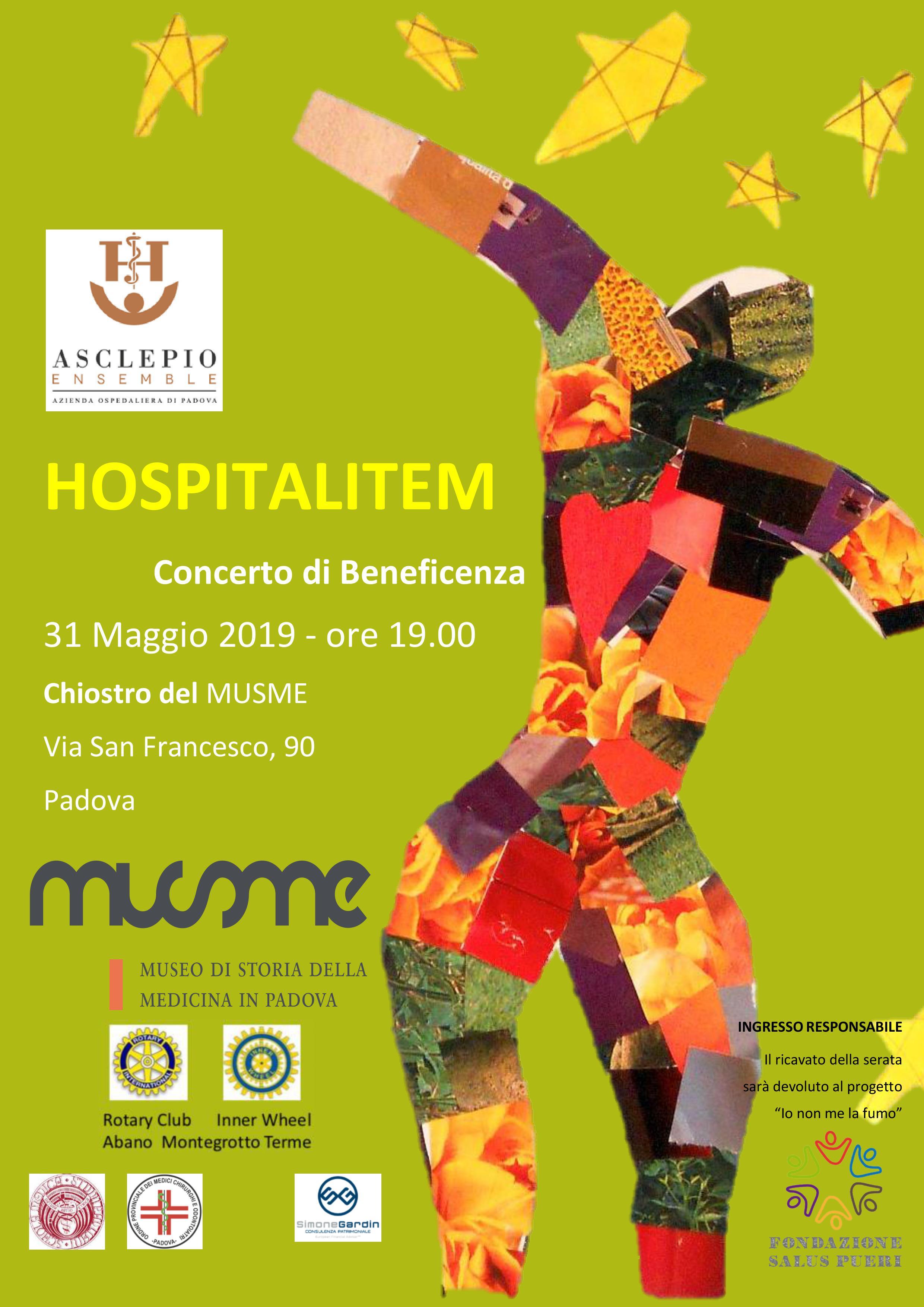 HOSPITALITEM, il concerto di beneficenza